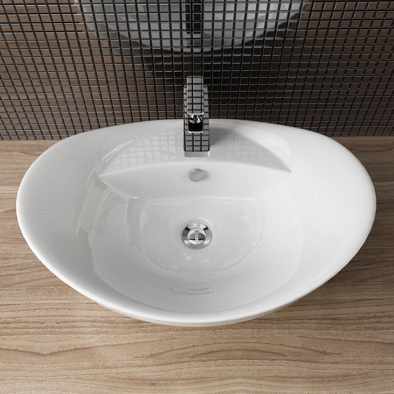 Waschbecken rund gäste wc  DESIGN KERAMIK AUFSATZ WASCHBECKEN & -TISCH HANDWASCHBECKEN GÄSTE WC ...