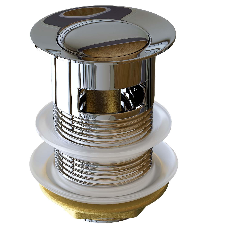 ablaufgarnitur ablauf ventil push open pop up ohne kipphebel mit berlauf p1 ebay. Black Bedroom Furniture Sets. Home Design Ideas